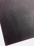 Midnight Purple Textured Leatherette Sheet A4 or A5 Size Thick 1.0mm Litchi Print Leatherette