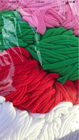 Christmas RED or GREEN 50 Pieces Thin Wholesale Nylon Elastic Stretch Baby Headbands  One Size Fits All | 5-6 mm | 26cm | FREE Post Au