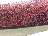 Ava Pink and Soft Purples Chunky Glitter Fabric 0.9mm Thickness