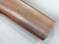 Holographic Metallic Leatherette Sheets A4 3 Colours | Gold | Silver | Rose Gold Iridescent