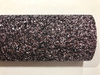 Gunmetal Grey Glitter Fabric Sheet 0.9mm Thick A4 or A5 Sheets Chunky Silver Gray Chunky Glitter fabric