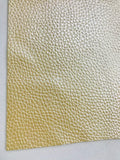 Pearl Lemon Leatherette 1.2mm Thickness Lychee Print Soft Yellow Faux Leather Fabric Sheets