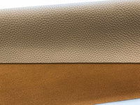 Latte Textured Leatherette Sheet A4 or A5 Size Thick 1.0mm Litchi Print Leatherette