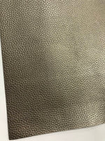 Pearl Pewter Leatherette 1.2mm Thickness Lychee Print Silver Faux Leather Fabric Sheets