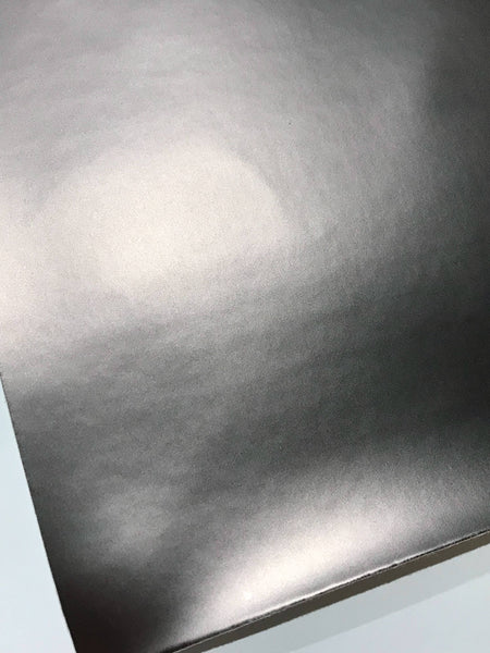 A4 sheet Smooth Pewter Faux Leather