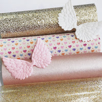 Smooth Rose Gold Pink Faux 1.2mm Leather fabric A4