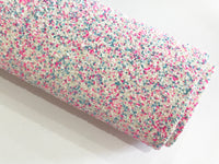 Enchanted Sprinkles Tricolour Chunky Glitter Fabric Sheet Thick A4 Sheet 1.1mm thickness