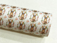 "Some Bunny Loves Me 1"" Faux Suede Wool Felt backed Fabric Sheets  - Made to Order / Pre Order"