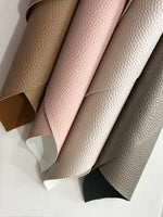 Neutrals Textured Leatherette Sheet A4 Size Thick 1.0mm Pearl Cream Matte Skin