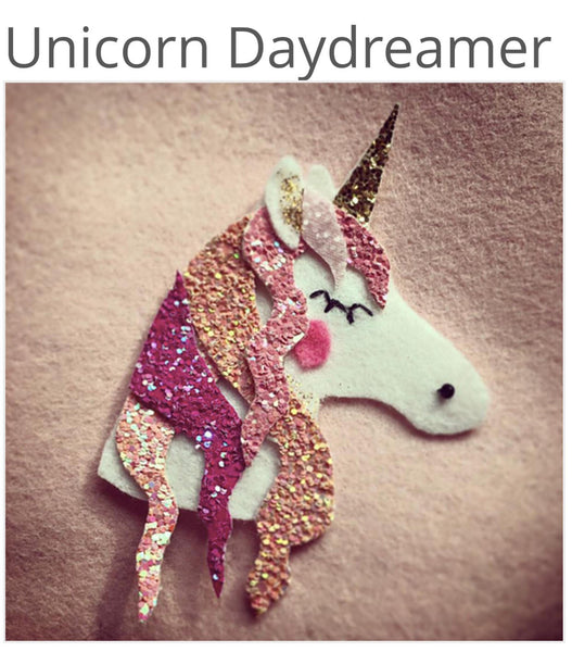 Unicorn Daydreamer Glitter Plastic Template