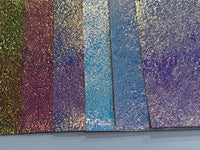 Holographic Toffee Strands Faux Leatherette 6 Colours