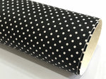 Black White Spots Faux Leatherette 20x 22cm Square