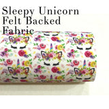 SALE Sleepy Unicorns Merino Wool Felt Backed - Mini 1""