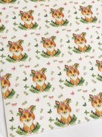 Woodland Fox Felt Backed Fabric Sheets