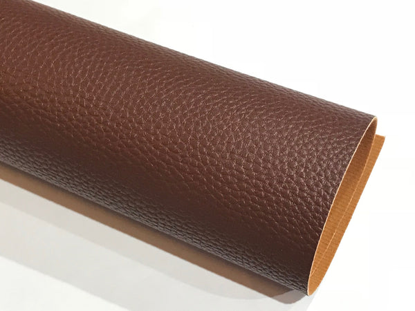 Syrup Brown Textured Leatherette Sheet