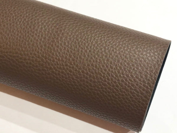 Expresso Brown Textured Leatherette Sheet A4 or A5 Size Thick 1.0mm Litchi Print Leatherette