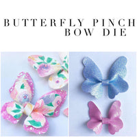 Butterfly Pinch Bow Plastic Template - Trace and Cut - NEW Plastic Bow Template