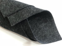 "1mm Charcoal Grey Fleck Merino Wool Felt 8 x 11"" Sheet - No. G-1-9"