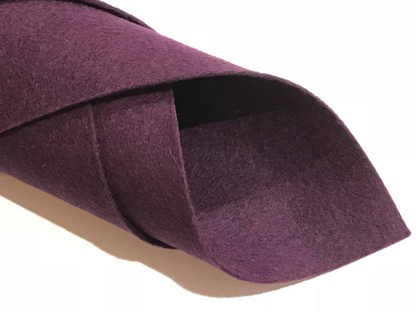 1mm Plum Merino Wool Felt A4 Sheet - No. 71