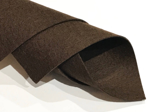 1mm Chocolate Brown Merino Wool Felt A4 Sheet - No. 36
