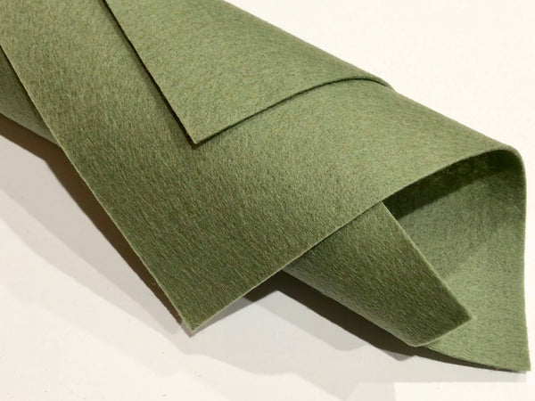 1mm Green Moss Merino Wool Felt A4 Sheet - No. 63