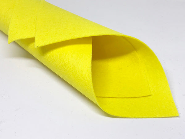 1mm Bumblebee Yellow Merino Wool Felt A4 Sheet - No. 66