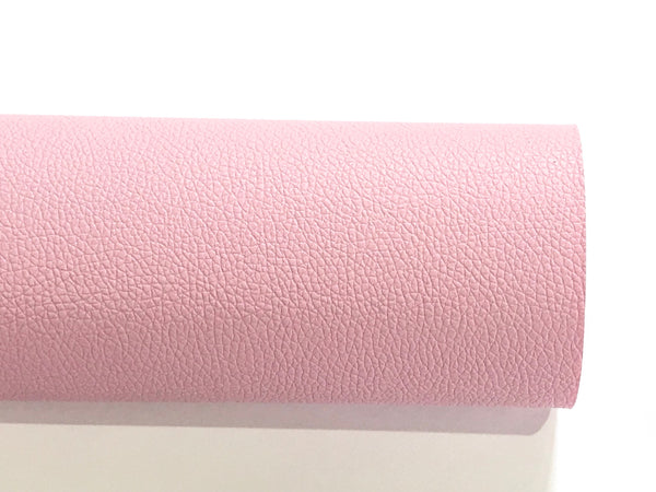 Lilac Pink Leatherette Sheet Thin 0.7mm  A4 8X11 or A5 Size Pink Faux Leather Fabric Lilac Pink Small Lychee Pattern PU Leather Leatherette