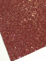 Cinnamon Chunky Glitter Canvas Fabric Sheet A4 Sheet