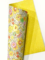 Liberty Betsy Yellow Double Sided Fabric Sheets