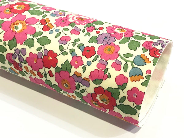 Liberty Betsy J Pink Double Sided Fabric Sheets