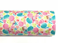 Seaside Double Sided Fabric Sheets Beach Shells Summer
