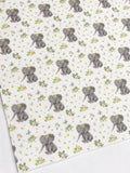 Spring Time Baby Elephant Felt Backed Fabric Sheets  - Made to Order