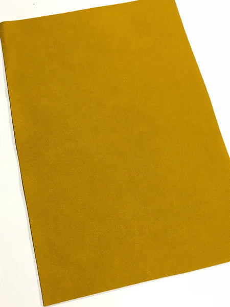New Stock Mustard Faux Suede Leather A4 Sheet
