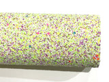 Neon Speckle Multicolour Chunky Glitter Fabric -  A4 Sheet