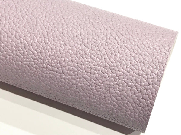 Pastel Purple Leatherette Sheet A4 8X11 or A5 Size Lilac Faux Leather Fabric Purple PU Leather Thick 1.2mm Litchi Print  Leatherette