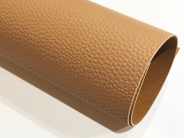 Pale Brown Textured Leatherette Sheet A4 or A5 Size Thick 1.0mm Litchi Print Leatherette