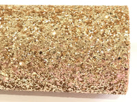 Pale Gold Chunky Premium Glitter Canvas Sheet 0.9mm Thick A4 Size - 23