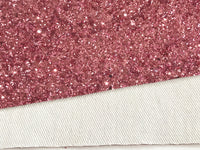 Rose Pink Chunky Premium Glitter Canvas Sheet 0.9mm Thick A4 Size