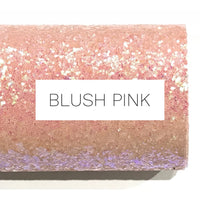 Blush Pink Glitter Fabric Sheet 0.7mm Thick A4 or A5 Sheets Pale Pink Chunky Glitter A4 or A5 Sheets