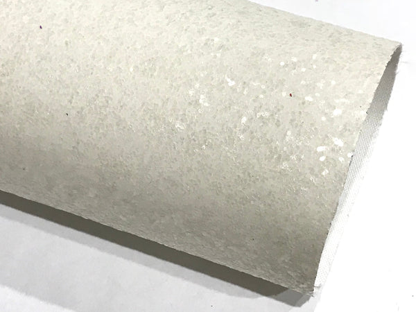 White Glitter Fabric Sheet 0.7mm Thickness 8x11 Sheet A4