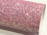 Lilac Pink Chunky Glitter Fabric Sheet 1.0mm thickness A5 orA4 Size Glitter Fabric - Lilac Kisses