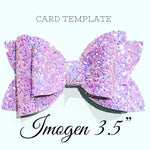 Imogen 3.5 inch Hairbow Plastic Trace and cut Template