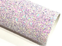 Lilac Dreams Multicolour Chunky Glitter Fabric -  A4 Sheet