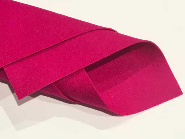 1mm Raspberry Merino Wool Felt A4 Sheet - No. 08