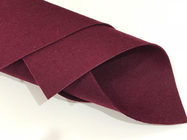 "1mm Marone Merino Wool Felt 8 x 11"" Sheet - No. 24"