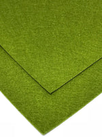 1mm Pickle Green Merino Wool Felt A4 Sheet - No. 14