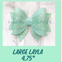 Layla Hairbow Trace and Cut Plastic Bow Template  3.5 or 4.75 inch