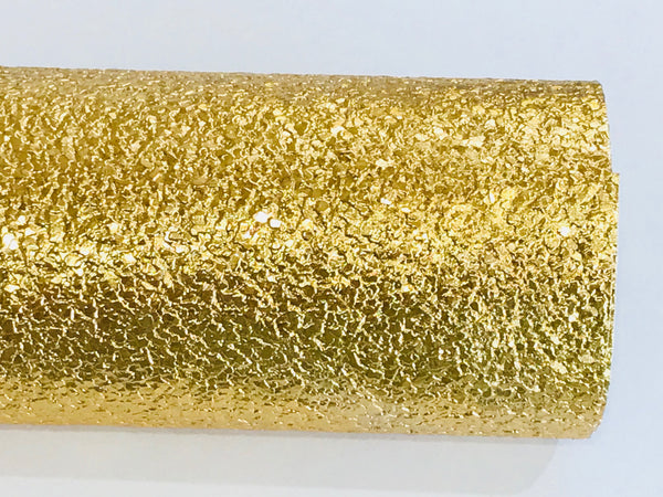 Gold Pebble Leatherette A4 or A5 Sheets Metallic Gold Faux Leather Fabric for Hair Bows Jewellery