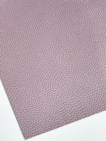 Pearl Pastel Violet Leatherette 1.2mm Thickness Lychee Print Purple Faux Leather Fabric Sheets