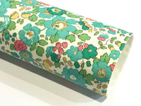 Liberty Betsy Green Double Sided Fabric Sheets